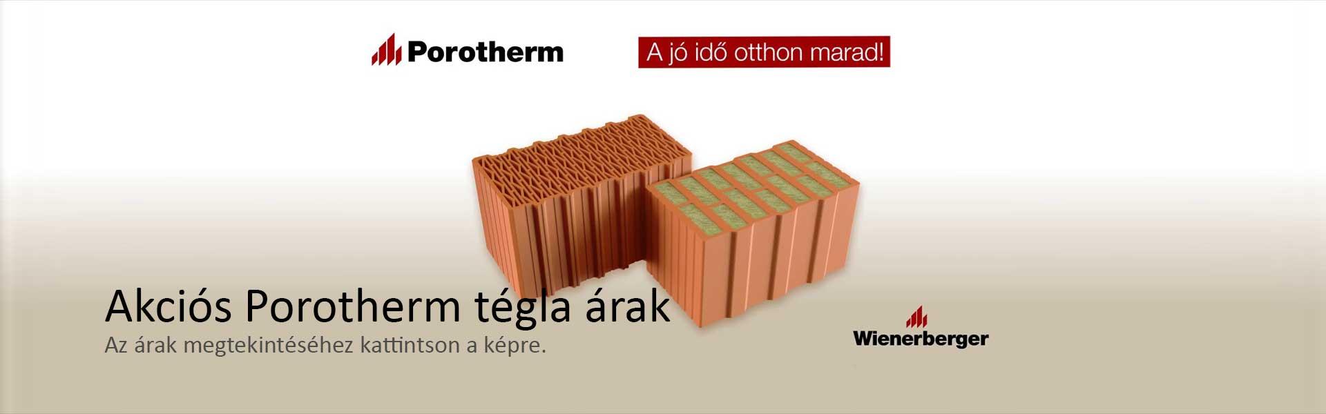 Akciós Porotherm tégla árak