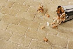 Leier Patio antik térkő és falazó 25×12,4x5 klinkersárga melírozott