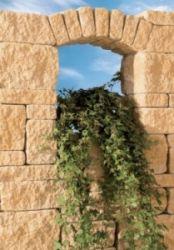 Leier Castrum falazókő 12 cm falhoz - füstantracit