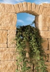 Leier Castrum falazókő 24 cm falhoz - füstantracit