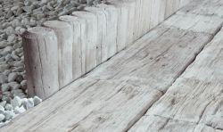 Semmelrock Nordic Maritime paliszád 40x15x8 cm - kagylószürke