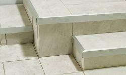 Semmelrock Alu-lépcső éltakaró 100x2,6x5,6 cm - természetes alumínium
