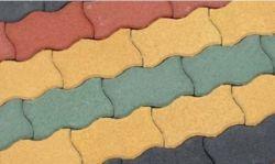 Fruhwald Parolin térkő, 1/2 szegélykő - 12x12x8 cm - zöld