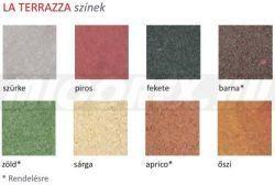 Frühwald La Terrazza térkő,  félkő - 10x10x4 cm - barna