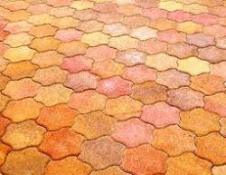 Frühwald Toscana térkő, 1/2 szegélykő - 11x22x8 cm - őszi