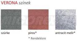 Frühwald Verona térkő, kezdőkő - 7x25x7 cm - piros
