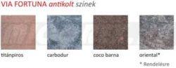 Frühwald Via Fortuna térkő 1 1/2 kő - 16x24x6 cm - barna melír