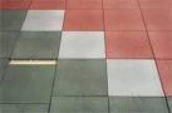 Frühwakd gumilapos járdalap - 50x50x6 cm - bordó