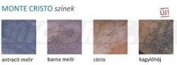 Frühwald Monte Cristo járdalap - 40x40x4 cm - antracit melír