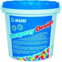 Mapei kerapoxy Design kétkomponensű saválló epoxi fugázóhabarcs 114 antracit 3 kg