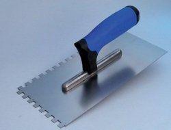 Mapei fogaslehúzó, rozsdamentes - 130x270 mm - fogazat: 8x8 mm