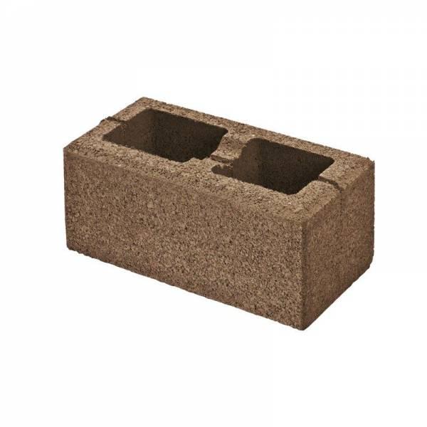 Semmelrock Rivago kerítés normálkő 40x20x16 cm - mokka