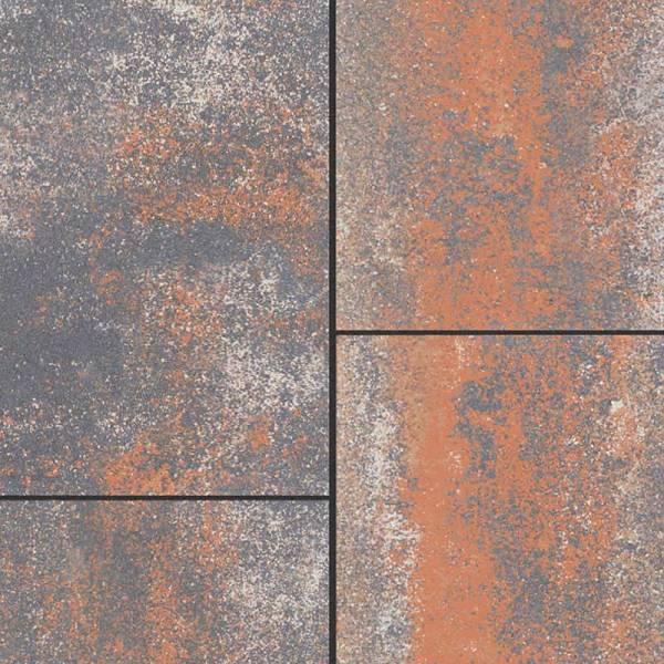 Semmelrock Citytop Grande Kombi térkő - 6 cm - grafit-réz
