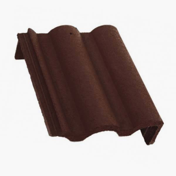 Bramac Római Protector félnyeregtető szegélycserép barna jobbos