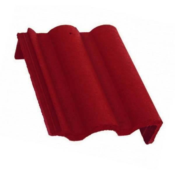 Bramac Római Protector félnyeregtető szegélycserép rubinvörös jobbos