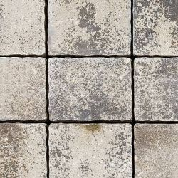 """Semmelrock Appia Antica antikolt """"A"""" kő 22,6x19,2x8 cm lávaszürke melírozott"""