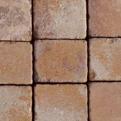 """Semmelrock Appia Antica antikolt """"A"""" 22,6x19,2x8cm lávavörös melírozott"""