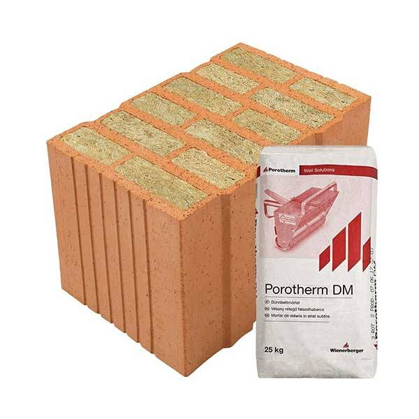 Porotherm Profi + V.F.H. 38 T thermo tégla