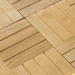 """Semmelrock Bradstone deszka betonlap """"párhuzamos"""" 45x45x4 cm természetes hatással mandulafenyő"""