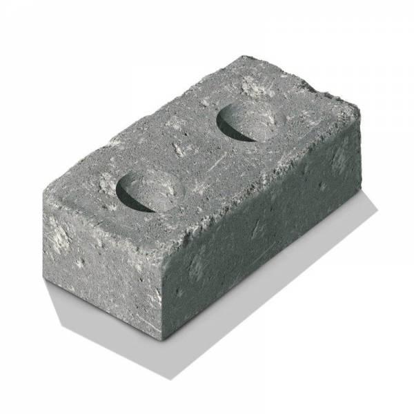 """Semmelrock Castello kerítés """"normálkő"""" 40x20x14 cm szürke-fekete"""