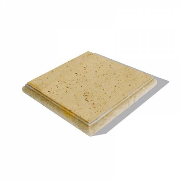 """Semmelrock Bradstone Travero falrendszer """"oszlop fedkő"""" 35x35x5cm homoksárga melírozott"""