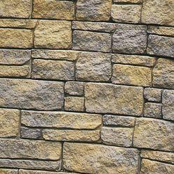 """Semmelrock Bradstone Mountain Block falrendszer """"fedkő"""" 30x29,5x22,5x4 cm sárgásszürke, melírozott"""