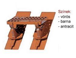 Bramac Fém járócserép kengyellel aluminium barna