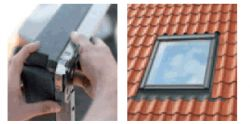 Velux Beépítő készlet EDW 2000 hőszigetelő kerettel, profilos tetőfedő anyagokhoz 55x98