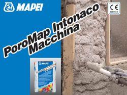 Mapei Poromap Intonaco Macchina géppel felhordható sóálló szárító-, és hőszigetelő vakolóhabarcs nyirkos falazatra 20 kg