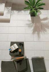 Leier Granite egyélen kezelt burkolólap 40x40 azul