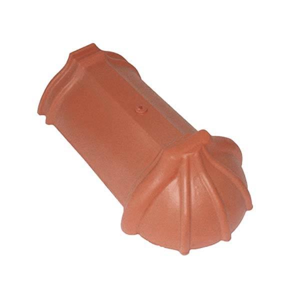 Tondach Rumba sajtolt sima kezdő gerinccserép 17 cm antracit színben