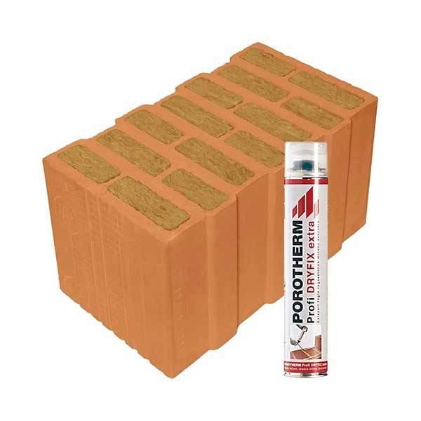 Porotherm Profi + Dryfix 44 T (Thermo) tégla