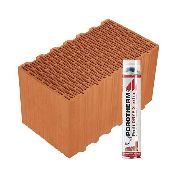 Porotherm Profi + Dryfix 44 K (Klima) tégla