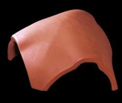 Tondach Csornai hornyolt hullámos hármas gerinc elosztóelem 17 cm téglavörös szín