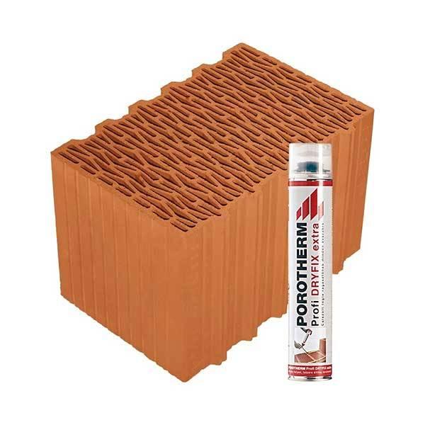 Porotherm Profi + Dryfix 38 K (Klima) tégla