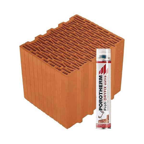 Porotherm Rapid + Dryfix 30 X-therm tégla
