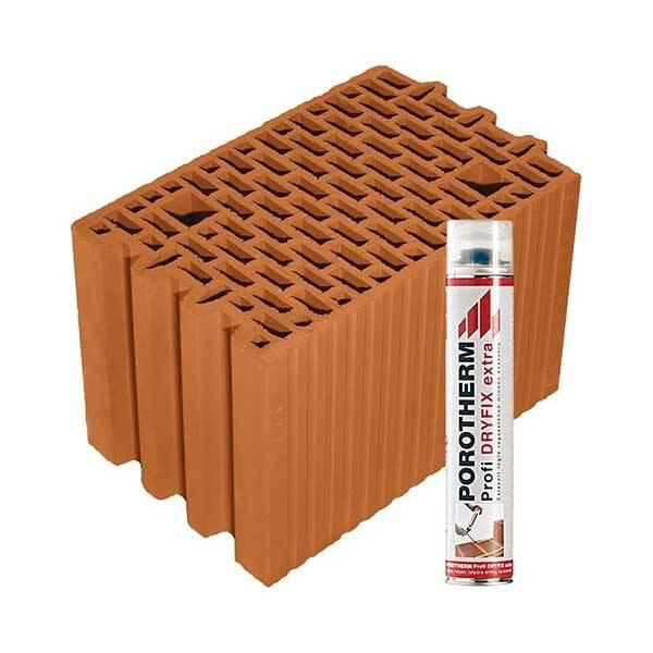 Porotherm Profi + Dryfix 25 NF tégla