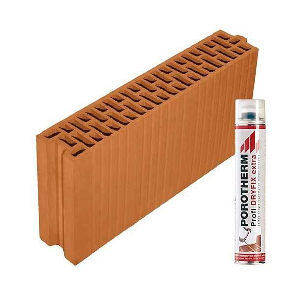 Porotherm Profi + Dryfix 10 NF tégla