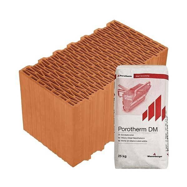 Porotherm Profi + v.f.h 44 K (Klima) tégla