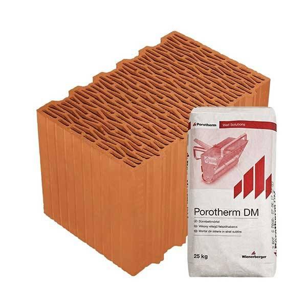 Porotherm Profi + v.f.h 38 K (Klima) tégla