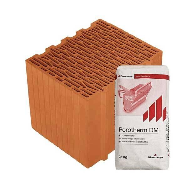 Porotherm Profi + v.f.h 30 K NF tégla