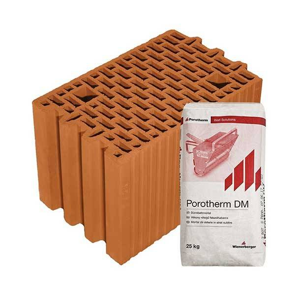 Porotherm Profi + v.f.h 25 NF tégla