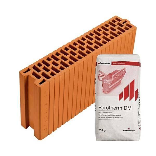 Porotherm Rapid 12 NF + V.F.H. tégla
