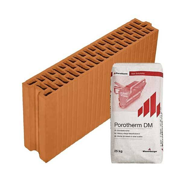 Porotherm Profi + v.f.h 10 NF tégla