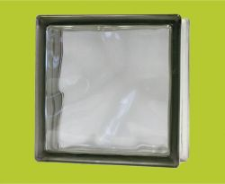 BaloBau Üvegtégla - 190 x 190 x 80 mm - szürke, tiszta