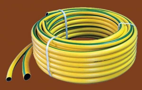 """BaloBau Csavarodásmentes PVC locsolótömlő - 1"""" x 25 m - sárga"""