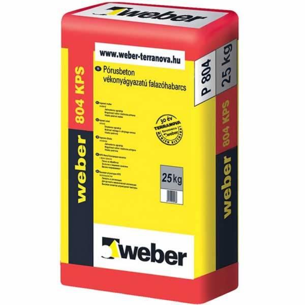 Weber weber 804 KPS - pórusbeton vékonyágyazatú falazóhabarcs