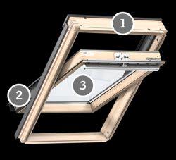 Velux GLL 1055 Standard Plus tetőablak felső kilinccsel - 78x118 cm