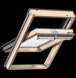 Velux GGU 0066 Premium tetőablak felső kilinccsel, háromrétegű üveggel, karbantartást nem igénylő felülettel - 55x98 cm