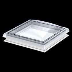 Velux Fix típus + kupola CFP+ISD - víztiszta, polikarbonát kupolával - 100x100 cm